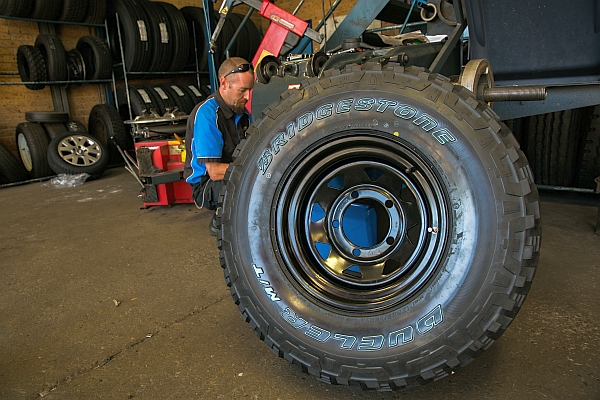 The Bridgestone Dueler M/T D674 tyres have the offroad credentials that I am looking for in Project 130.
