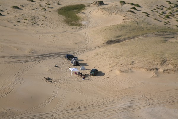 Unrestricted camping on Stockton Beach is unfortunately a thing of the past.