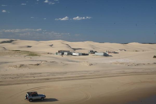 Camping on Stockton Beach will be set up near Tin City.