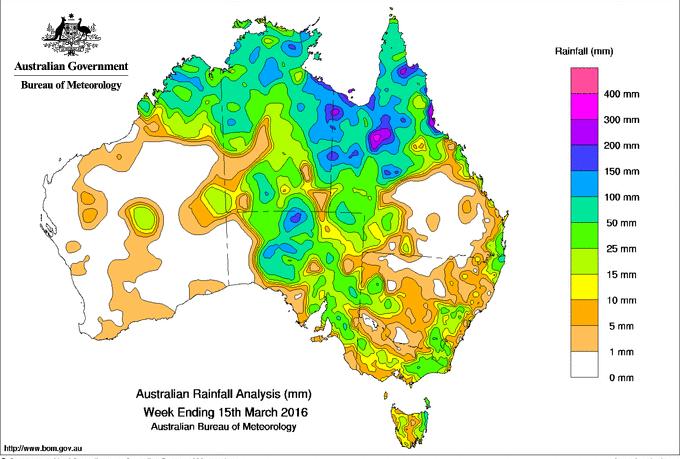 Outback Australia Rainfall
